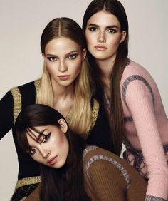 Fei Fei Sun, Sasha Luss and Vanessa Moody for Bazaar Spain