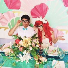 Afloral flowers were used in this super rad mermaid wedding by yourcloudparade.com featuring Traci Hines. Super cute!