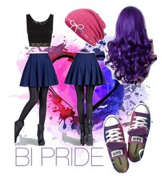 """Bi Pride"" by jaclyn-willi on Polyvore featuring Topshop and Keds"
