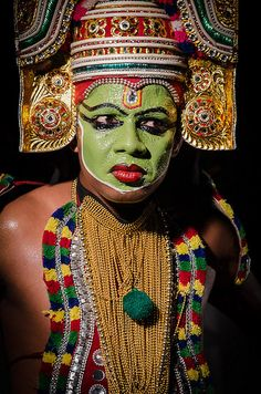 Traditional Kathakali dancer ~ Kerala