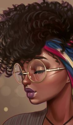 Image discovered by 𝐆𝐄𝐘𝐀 𝐒𝐇𝐕𝐄𝐂𝐎𝐕𝐀 👣. Find images and videos about fashion, cute and beautiful on We Heart It - the app to get lost in what you love. Black Art Painting, Black Artwork, Black Love Art, Black Girl Art, African American Art, African Art, Drawings Of Black Girls, Black Girl Cartoon, Natural Hair Art