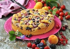Hrnkový malinový koláč