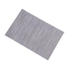 Lerela Set Of 4 Solid Grey Woven Vinyl Place Mats Indoor And Outdoor Dining Table Mat