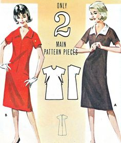 1970s Dress Pattern Butterick 3060 Quick 'N Easy by paneenjerez, $12.00