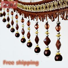 Luxury Crystal Beaded trim for curtains Tassel Fringe lace Ribbon 10.5cm Width Lace Craft Sewing Curtain Accessory Decoration >>> You can get more details at http://performance.affiliaxe.com/aff_c?offer_id=11422