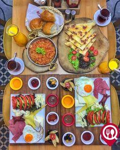 Turkish Recipes, Ethnic Recipes, Turkish Breakfast, Dinner Table, Brunch, Cheese, Shop, Meals, Mushrooms