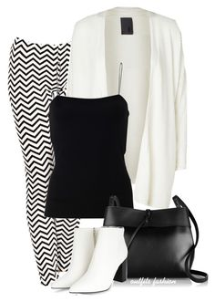 Black & White by rosipolooyas on Polyvore featuring moda, T By Alexander Wang, Minimum and Kara