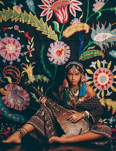 Colorful bohemian gypsy