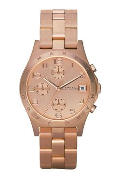 MARC BY MARC JACOBS 'Henry' Rose Gold Chronograph Watch Rose Gold