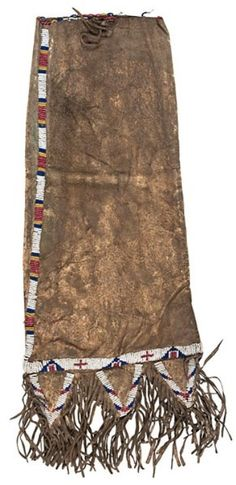 Bag | Sioux Tobacco Beaded Hide Fringe 20 inch