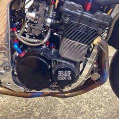 GsxR Suzuki Gsx R 750, Suzuki Bikes, Suzuki Motorcycle, Motorcycle Engine, Concept Motorcycles, Cars And Motorcycles, Gsxr 1100, Motorbike Parts, Custom Street Bikes