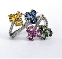 A Sapphire Bouquet, Just for You? 18WG #DiamondsExclusive