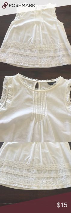 Top shop white cotton top White cotton with t shirt back Topshop Tops Blouses
