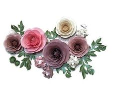 Large Paper Flowers, Paper Flower Wall, Paper Flower Backdrop, Flower Wall Decor, Paper Roses, Wedding Wall Decorations, Backdrop Decorations, Flower Decorations, Flower Bouquet Diy