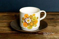 Johnson of Australia 'Paradise' teacup/saucer by ThatRetroPiece, $5.00