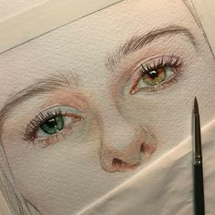 Reina Yamada is an artist who works actively in Japan and is the author of many works of watercolor art. The re-adaptation of watercolor paint. Art Drawings Sketches, Pencil Drawings, Pencil Tattoo, Watercolor Portraits, Watercolor Art, Drawing Portraits, Eye Painting, Eye Art, Art Sketchbook