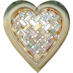 From 1951 Ad~Vtg CROWN TRIFARI 'Heart Throb' Alfred Philippe Clear Baguettes Brooch~Mint Condition!