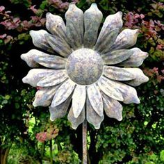 Garden wind spinner metal kinetic windmill outdoor lawn yard decor sunflower windmill garden stake ornament add this feature to your garden and watch the sunflower turn with the wind workwithnaturefo