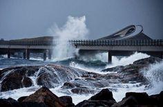 Most danger road in the world, Atlantic Road, Norway