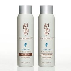 Even the richest, deepest brunettes can go brassy with time. Formulated specifically for brunette hair, this nutrient-rich, multi-tonal marine blue shampoo & conditioner instantly neutralizes unwanted brassy tones and protects color while gently cleansing & moisturizing. The unique color is a blend of both blue and green pigments that counteract the red and orange tones that show up in brassy brunette hair. Hair is left hydrated, strengthened, and brilliantly, beautifully brunette.