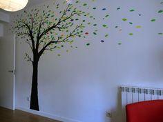mural arbol para dormitorio