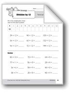 Division Strategies, Grade 3: Division by 12. Download it at Examville.com - The Education Marketplace. #scholastic #kidsbooks @Karen Echols #teachers #teaching #elementaryschools #teachercreated #ebooks #books #education #classrooms #commoncore #examville