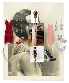"""""""roarin 20's"""" by sasisfashion on Polyvore featuring Rainbow Club, Unique Vintage, Bling Jewelry, House of Lavande and Christian Louboutin"""
