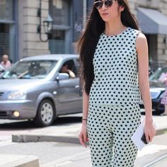 "@Lee Oliveira's photo: ""Polka Dots #fashion #streetstyle #style #igfashion #chic #leeoliveira"""