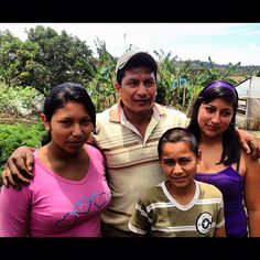 """Farmer Jesus Eimer & his children say Fair Trade has taught them to work together; working together you can learn everything."""" We couldn't agree more!"""