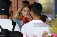 Joe Jonas and his girlfriend Gigi Hadid attend the Williams sisters match on day nine of the 2015 US Open at USTA Billie Jean King National Tennis Center on September 8, 2015 in the Flushing neighborhood of the Queens borough of New York City.