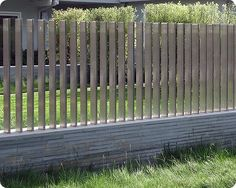 Cool Pool Fence - Stainless Steel and Stone