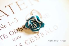 Blue & White Flower Ring