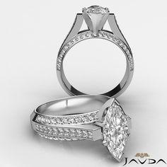 Marquise Diamond Vintage Pave Engagement Ring EGL G VS2 Clarity Platinum 2 4 Ct | eBay