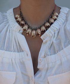 Vintage Tulip necklace