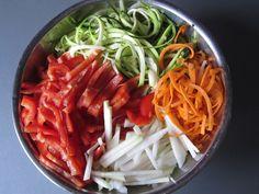 Maggi Sommernudeln mit buntem Gemüse verfeinert mit Petersilie und Schnittlauch Foto 2