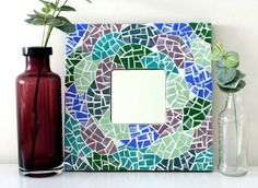Handmade Mosaic Mirror // Handmade Gifts for Home by SababaMosaics Mosaic Mirrors, Unique Jewelry, Handmade Gifts, Etsy, Vintage, Kid Craft Gifts, Handcrafted Gifts, Hand Made Gifts, Costume Jewelry