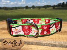 Snowman dog collar - Christmas