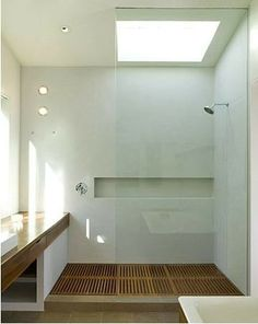 Clean and lit shower