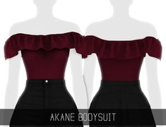 Simpliciaty Akane bodysuit for The Sims 4 Mods Sims 4, Sims 4 Mods Clothes, Sims 4 Clothing, Maxis, Sims Four, Sims 4 Mm, Mode Outfits, Outfits For Teens, Sims 4 Outfits