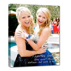 sisters bestfriend canvas art birthday or wedding gift