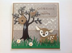 . Bambi, Baby Deer, Baby Boy, Marianne Design, Animal Cards, Christmas Gift Tags, Pretty Cards, Forest Animals, Big Shot