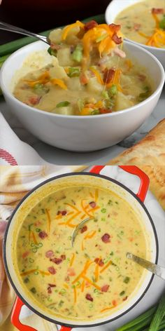 comforting delicious creamy potato recipe bacon soup with such and a Creamy Potato Soup with Bacon Such a delicious and comforting recipeYou can find Soup and salad and more on our website Healthy Soup Recipes, Bacon Recipes, Salad Recipes, Cooking Recipes, Recipes With Celery, Simple Soup Recipes, Summer Soup Recipes, Creamy Soup Recipes, Potato Bacon Soup
