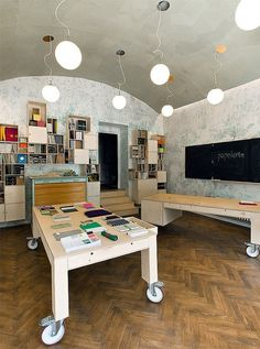 Built by A1Architects in Prague, Czech Republic The first papelote stationary shop opened up in June 2010 in Prague, Czech Republic. This is a new concept store of h...