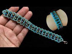 Beaded Bracelets Tutorial, Beaded Bracelet Patterns, Bead Jewellery, Jewelry Making Beads, Polymer Clay Beads, Lampwork Beads, Beaded Ornaments, Diy Ornaments, Glass Ornaments