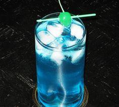 Alaskan Iced Tea (2 oz. Blue Curacao .5 oz. Vodka .5 oz. Rum (light) .5 oz. Gin 2 oz. Sweet & Sour Mix 2 oz. 7-Up Cherry for garnish)
