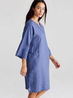 18a304c8b9 Organic Handkerchief Linen Kimono-Sleeve Dress | EILEEN FISHER Eileen Fisher,  Cold Shoulder Dress