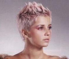 Punk rock short haircut. I wish I was this edgy.