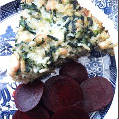 Whit bean, spinach and brown rice frittata (modified from Eating Well)