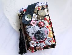 Daisies Bear Mobile Phone Pouch-Samsung-HTC-LG from Lily's Handmade - Desire 2 Handmade Gifts, Bags, Charms, Pouches, Cases, Purses by DaWanda.com