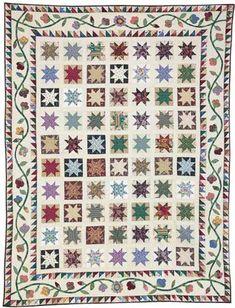 Stars in my Garden by Toby Preston Friday Freebie: Stars in My Garden Scrappy Lap Quilt Pattern